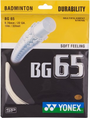 Yonex BG 65 0.70 mm Badminton String - 10 m(White)
