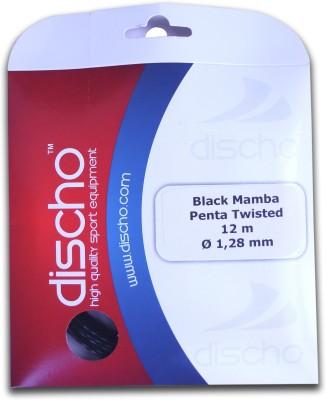 Discho Black Mamba Penta Twisted 1.28mm - Single Set 1.28mm Tennis String - 12 m