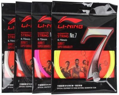 Li-Ning No. 7 Pack of 4 0.70mm Badminton String - 10 m