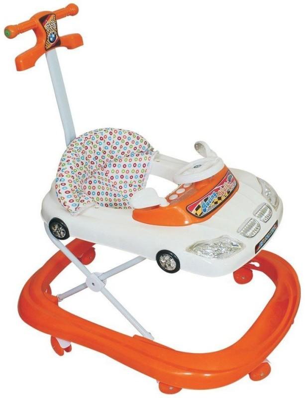 YEPDOM BMW Car Shaped Baby Walker - Height Adjustable, Musical, Soft Cushion Stroller Pram Pad