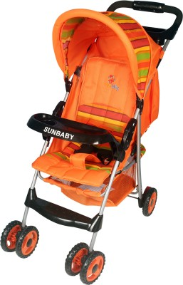 Sunbaby Baby Buggy cum Stroller(Orange)