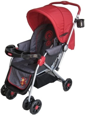 Sunbaby Red Leonardo Stroller with Rocking