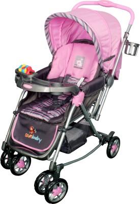 Sunbaby Pink Abi Stroller with Rocking(Pink)