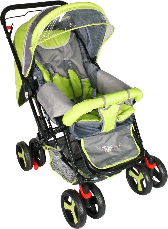 Toyhouse Baby Stroller Stylish Pram(3 Position, Green)