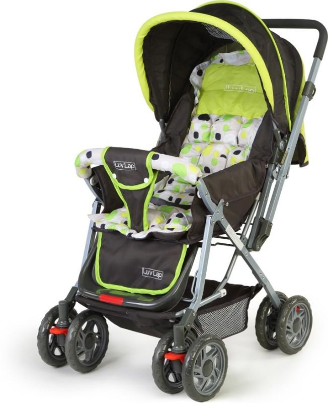 LuvLap Sunshine Baby Stroller(3 Position, Green)