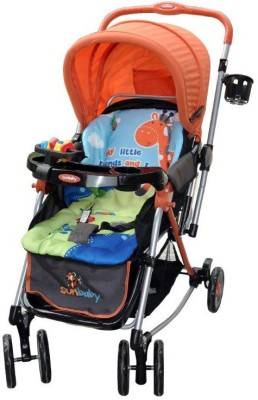 Sunbaby Tall Buddy Giraffe Stroller with Rocking