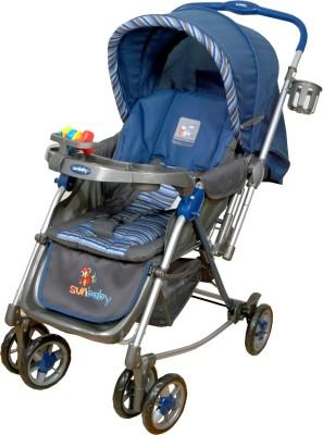 Sunbaby Blue Aurora Stroller with Rocking(Blue)