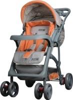 LuvLap Sports Baby Stroller(Grey, Orange)