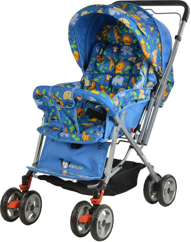 Toy House Baby Stroller-Animals(Blue)
