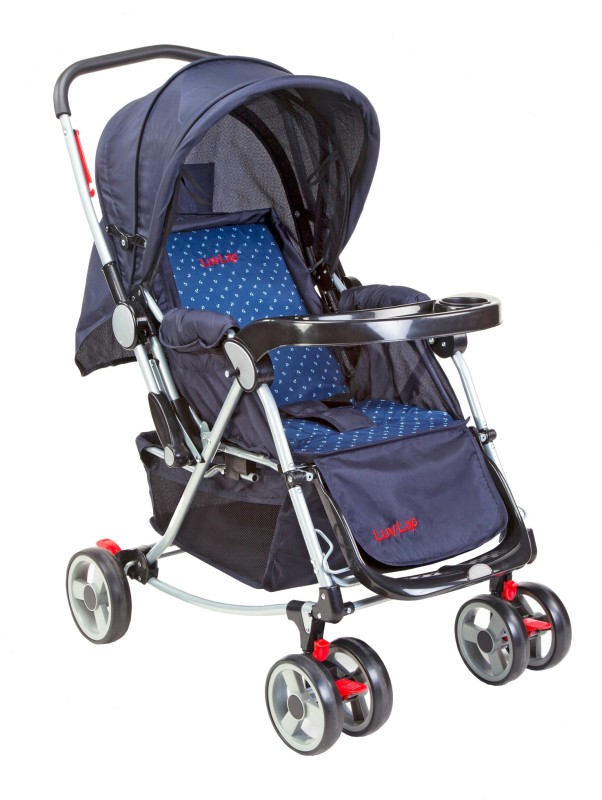 LuvLap 2 in 1 Baby stroller with Rocker(3 Position, Blue)