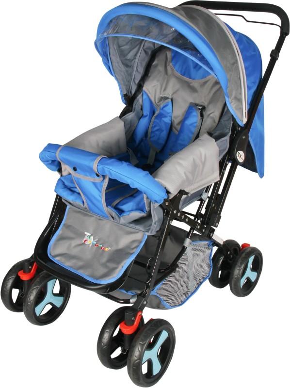 Toyhouse Baby Stroller Stylish Pram(3 Position, Blue)
