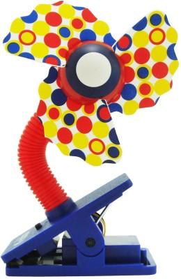 Babies Bloom Stroller Fan (Multi-Color)(Red, Yellow)