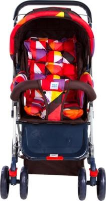 Mee Mee Baby Pram with Adjustable Seating Positions and Reversible Handle_Orange(3, Orange)