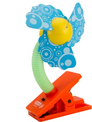 Babies Bloom Stroller Fan (Multi-Color)(No Recline position, Blue)