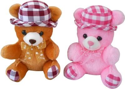 Saugat Traders Couple Cap Teddy - 20 cm