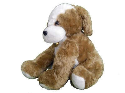Gifts & Arts Cute Soft Brown Dog  - 35 cm