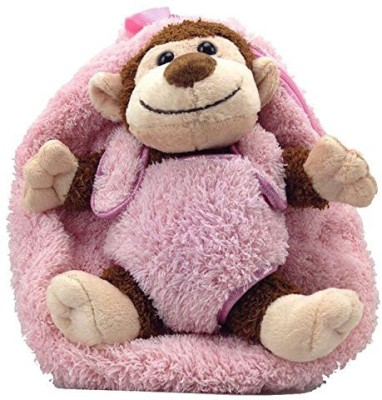 Kreative Kids, Inc Kreative Kids Plush Animal Backpacks Monkey W/Hot Pink