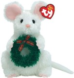 Ty Garlands White Mouse With Wreath (Whi...