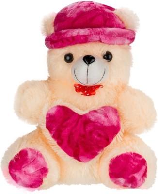 Ganpati Traders Huggable Cap-heart Teddy Bear  - 23 inch
