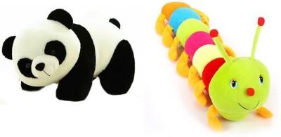 Ganpati Traders Panda And Multicolor Caterpillar  - 23 cm