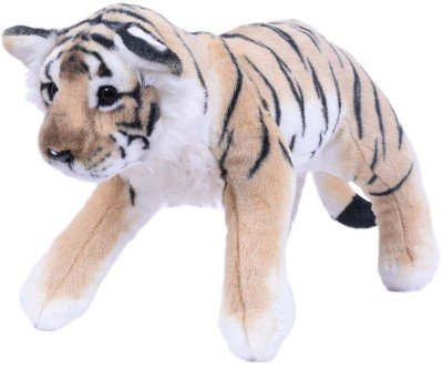 Planet of Toys Grovelling Brown Tiger  - 60 cm
