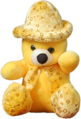 VRV Soft Yellow Love Teddy Bear with Cap  - 32 cm