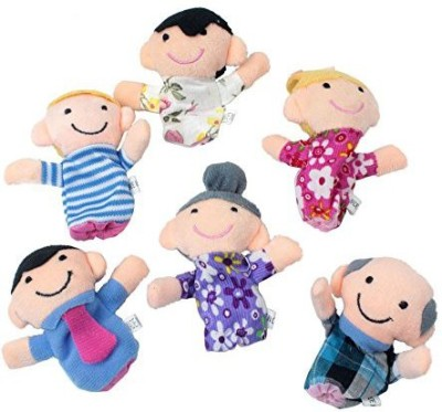 niceeshop Cute 6Pcs Family Finger Puppets People