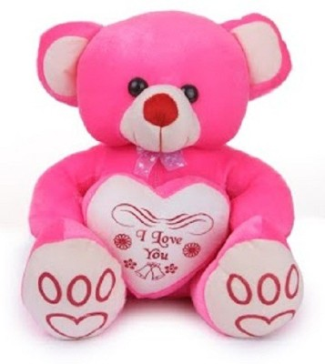 Deals India Shirley Pink Bear  - 45 cm