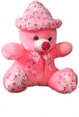 VRV Soft Pink Love Teddy Bear with Cap  - 32 cm