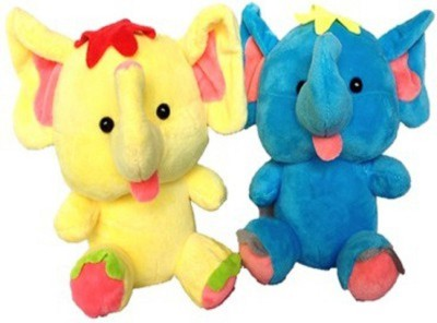 Cuddles Cute Looking Baby Elephants Combo  - 20 cm