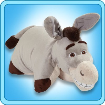 Pillow Pets My Authentic DreamWorks Donkey 18-Inch Folding Plush Pillow, Large  - 20 inch