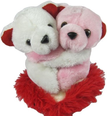 Tickles Hugging Pair Teddy with Heart  - 6 inch