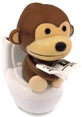 Mandarin Solar Power Motion Monkey On Toilet Brown