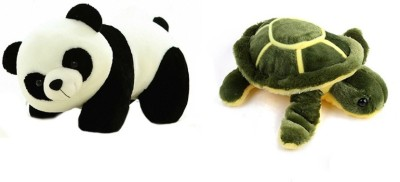Deals India Deals India Panda Soft Toy (26 Cm) And Green Turtle (30 Cm) Combo  - 30 cm