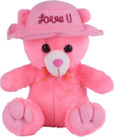 Ultra Cap Teddy Soft Toy - 9 inch(Pink)