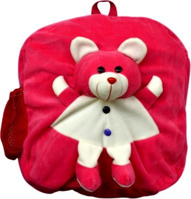 Funtastik Pink Happy Teddy Design Kids Bag  - 40 cm