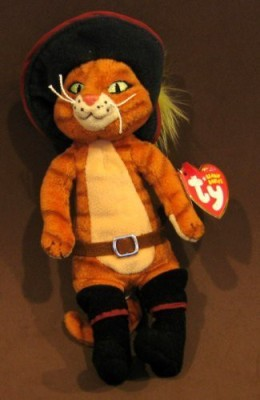 TY Beanie Babies Puss In Boots The Cat (Dvd Exclusive)