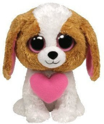 TY Beanie Babies Cookie Dog With Heart For Valentines
