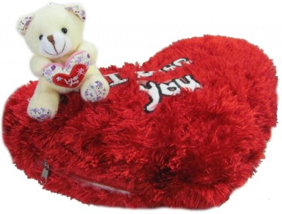 Tickles Teddy I Love You Cushion  - 14 inch(Red)