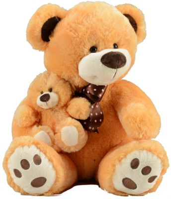 Fun Toys Teddy With Baby - 12.9921 inch (Cream)