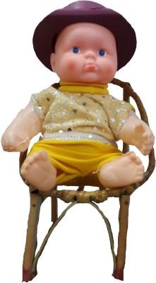 Ekku Ekku Cute Boy Sitting On Chair  - 8 inch