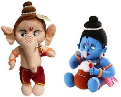 ARIP Naughty Ganesha & krishna Combo  - 13 inch