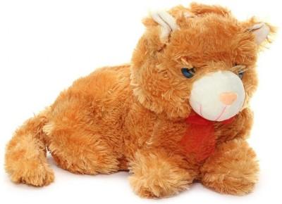 Deals India Stuffed Soft Plush Cute Cat  - 30 cm(Brown)
