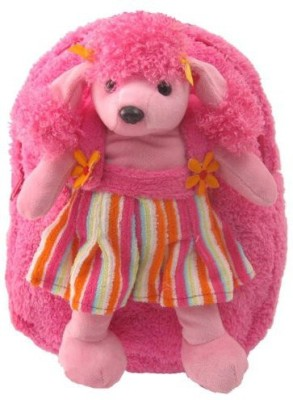 Kreative Kids, Inc Kids Pink Backpack With Adorable Poodle Stuffie