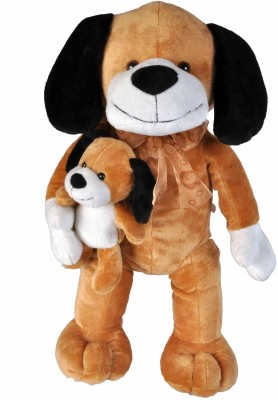 Soft Buddies Dog with Baby  - 13 inch