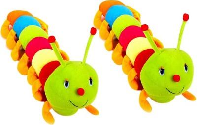Ewi Soft Toys Stuffed Caterpiller Set of 2  - 55 cm(Multicolor)