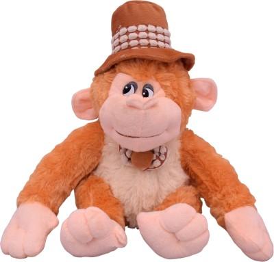 U Smile Monkey w/Cap (M) 34 cm  - 34 cm