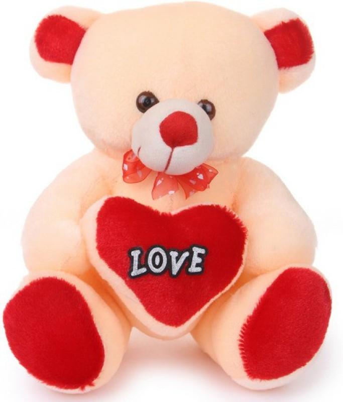 Ktkashish Toys Kashish Soft Love Teddy 35cm  - 15 inch(Cream, Red)