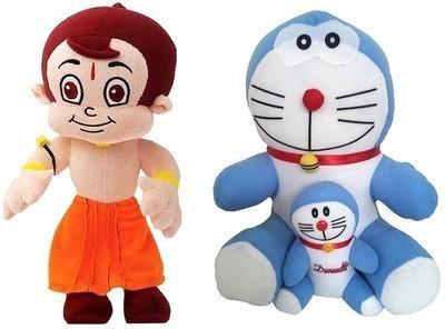 ARIP Naughty Chota bheem & Doraemon Combo  - 13 inch