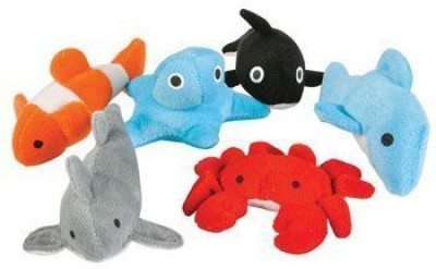Rhode Island Novelty SEALIFE Assortment Plush Toys ( Bag of 24 Pieces - 3 inch )  - 25 inch